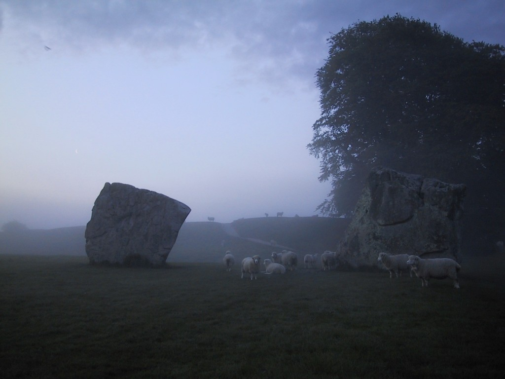 The Lodge, Avebury - Early morning in Avebury, it's probably just you and the sheep.